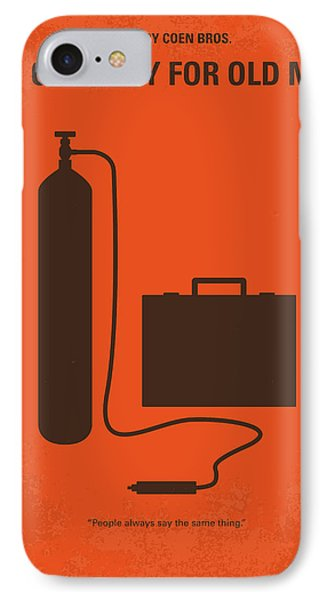 No253 My No Country For Old Men Minimal Movie Poster IPhone Case