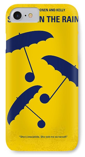 No254 My Singin In The Rain Minimal Movie Poster IPhone Case by Chungkong Art