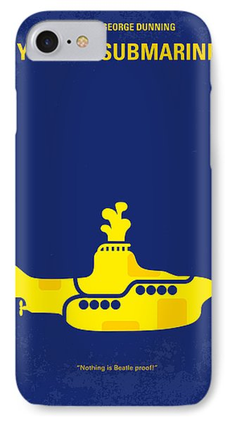 Musicians iPhone 7 Case - No257 My Yellow Submarine Minimal Movie Poster by Chungkong Art