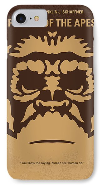 Planets iPhone 7 Case - No270 My Planet Of The Apes Minimal Movie Poster by Chungkong Art