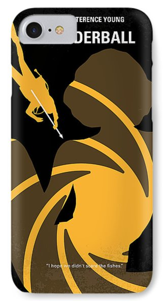 No277-007 My Thunderball Minimal Movie Poster IPhone Case