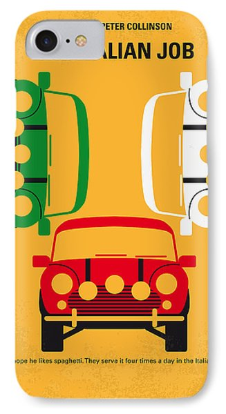 No279 My The Italian Job Minimal Movie Poster IPhone Case by Chungkong Art