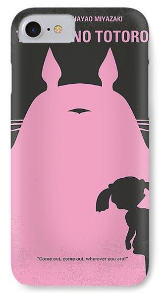 No290 My My Neighbor Totoro Minimal Movie Poster IPhone Case by Chungkong Art