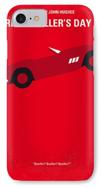 No292 My Ferris Bueller's Day Off Minimal Movie Poster IPhone Case