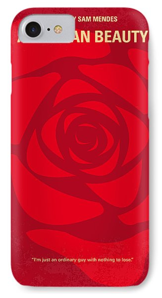 No313 My American Beauty Minimal Movie Poster IPhone Case by Chungkong Art