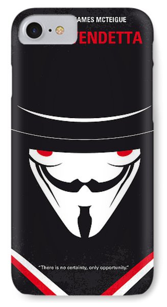 No319 My V For Vendetta Minimal Movie Poster IPhone Case by Chungkong Art