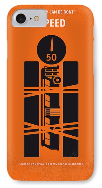 No330 My Speed Minimal Movie Poster IPhone Case by Chungkong Art