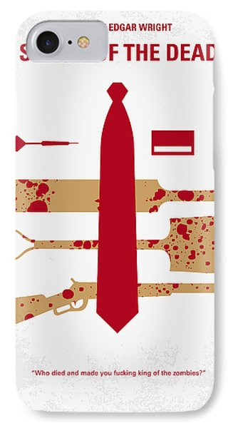 No349 My Shaun Of The Dead Minimal Movie Poster IPhone Case