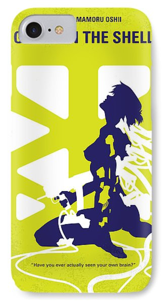 No366 My Ghost In The Shell Minimal Movie Poster IPhone Case by Chungkong Art