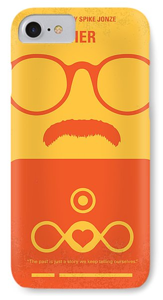 No372 My Her Minimal Movie Poster IPhone Case