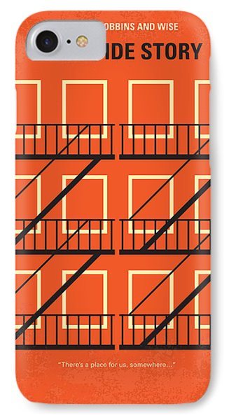 No387 My West Side Story Minimal Movie Poster IPhone Case by Chungkong Art