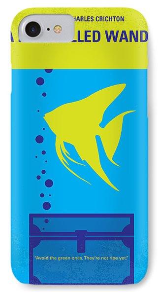 No389 My A Fish Called Wanda Minimal Movie Poster IPhone Case by Chungkong Art