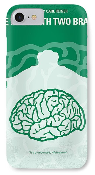 No390 My The Man With Two Brains Minimal Movie Poster IPhone Case by Chungkong Art