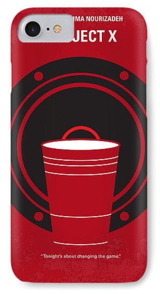 No393 My Project X Minimal Movie Poster IPhone Case by Chungkong Art