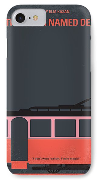 No397 My Street Car Named Desire Minimal Movie Poster IPhone Case by Chungkong Art