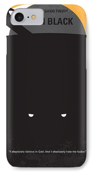 No409 My Pitch Black Minimal Movie Poster IPhone Case