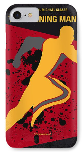 No425 My Running Man Minimal Movie Poster IPhone Case by Chungkong Art