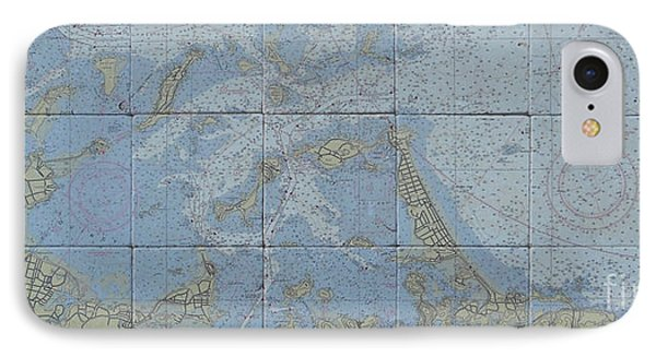 Noaa Chart Of Boston Harbor  IPhone Case by Creative Images on Tile