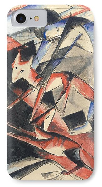 Noah And The Fox Phone Case by Franz Marc