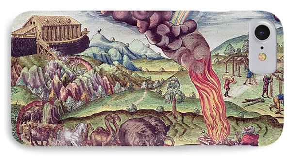 Noahs Ark, Illustration From Brevis Narratio..., Published By Theodore De Bry, 1591 Coloured IPhone Case