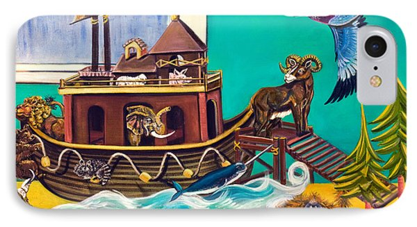 IPhone Case featuring the painting Noah's Ark Second Voyage by Susan Culver