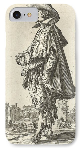 Noble Man With Hat, Seen On The Left, Jacques Callot IPhone Case by Jacques Callot And Frederik De Wit Possibly