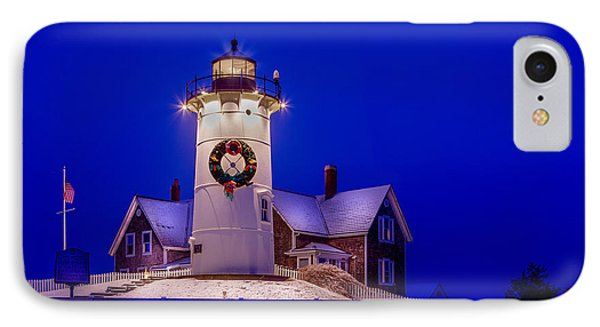 Nobska At Christmas IPhone Case by Michael Petrizzo