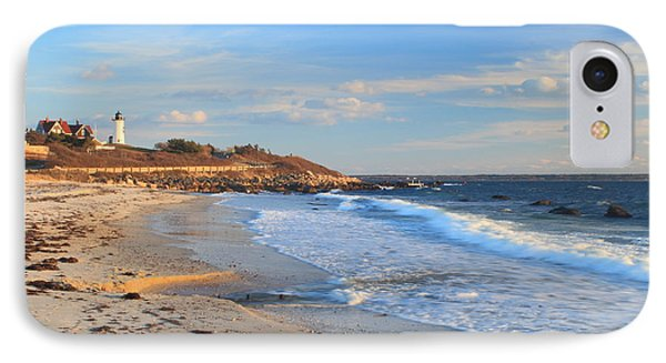 Nobska Lighthouse And Nobska Beach Cape Cod IPhone Case by John Burk