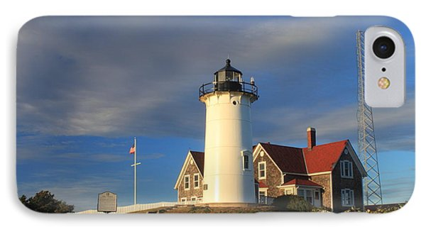 Nobska Lighthouse Cape Cod IPhone Case by John Burk