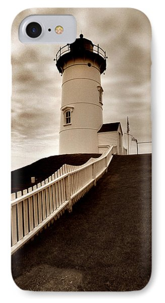 Nobska Lighthouse IPhone Case by Skip Willits