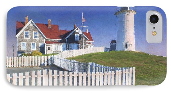 Nobska Point Lighthouse IPhone Case by Jean-Pierre Ducondi