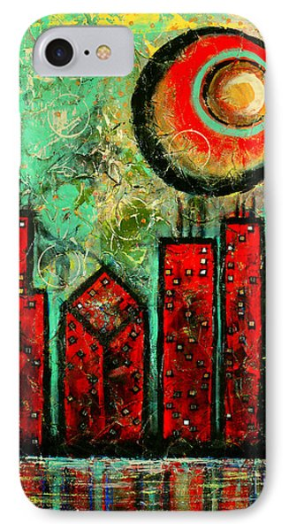 Noche Roja - Red Night - Art By Laura Gomez IPhone Case