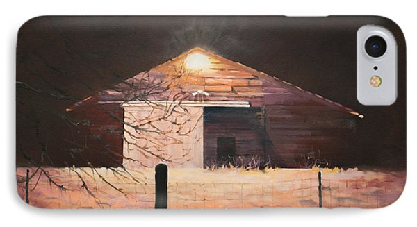 Nocturnal Barn IPhone Case by Rebecca Matthews