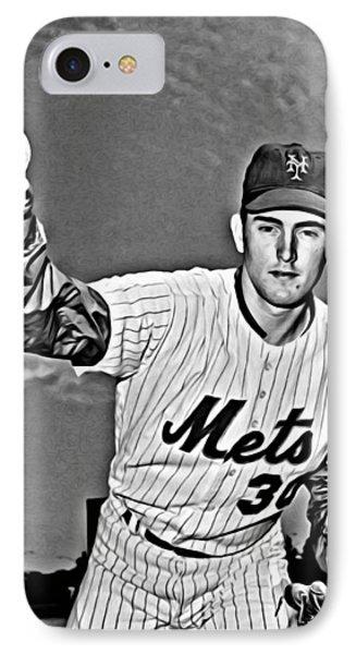 New York Mets iPhone 7 Case - Nolan Ryan by Florian Rodarte