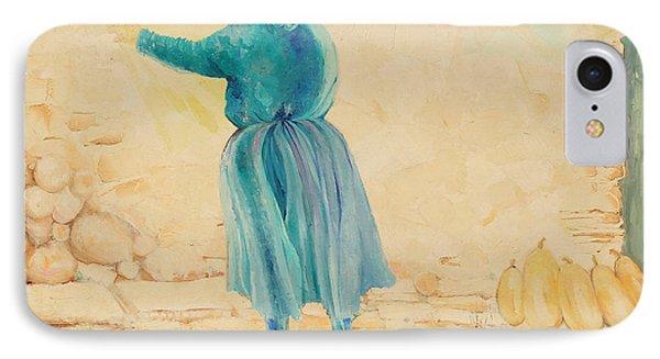 IPhone Case featuring the painting Forenza Vita Nonna Filomena  Celesta Sole by Giovanni Caputo