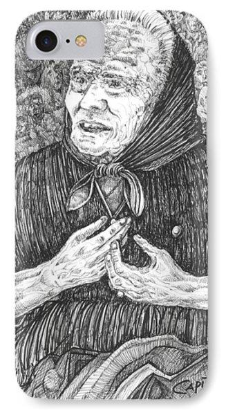 IPhone Case featuring the drawing Forenza Vita Nonna Filomena - Famiglia Mia by Giovanni Caputo