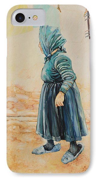 IPhone Case featuring the painting Forenza Vita Nonna Filomena by Giovanni Caputo