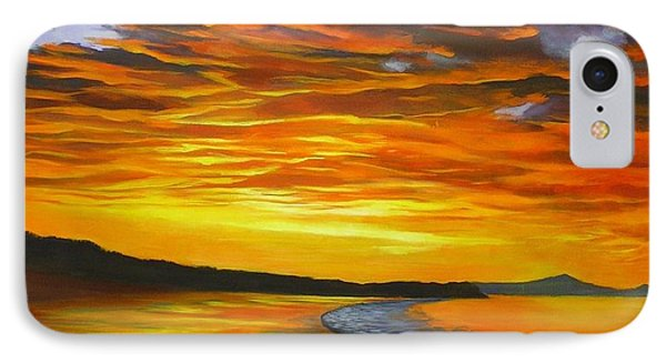 IPhone Case featuring the painting Noosa Sunset by Chris Hobel