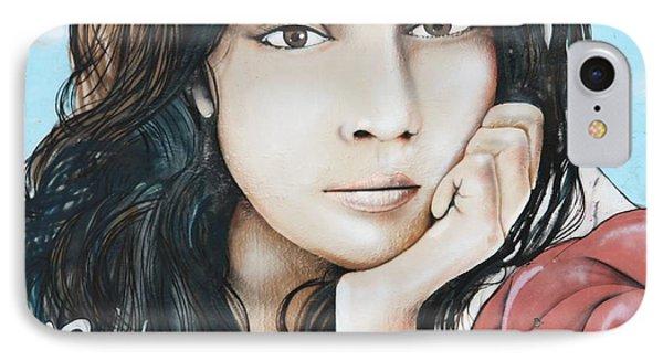 Norah Jones Mural II Phone Case by Lorri Crossno