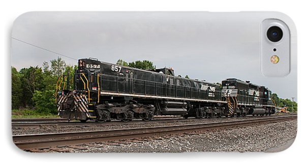Norfolk Southern - Linwood Yard - Spencer Nc IPhone Case by John Black