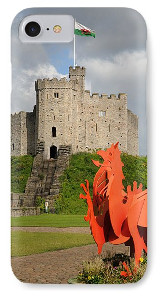 Norman Keep Cardiff Castle IPhone Case by Jeremy Voisey