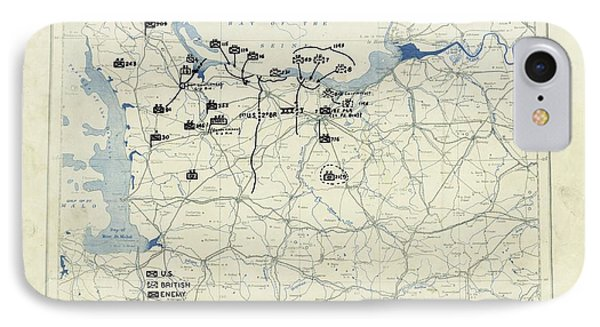 Normandy Campaign Map IPhone Case by Library Of Congress, Geography And Map Division