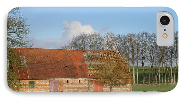 IPhone Case featuring the photograph Normandy Storm Damaged Barn by HEVi FineArt
