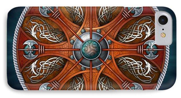 Norse Aegishjalmur Shield IPhone Case by Richard Barnes