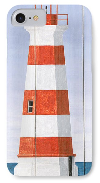 North American Lighthouses - Brier IPhone Case by Gail Fraser