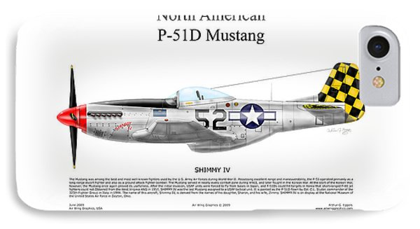 North American P-51d Shimmy Iv Phone Case by Arthur Eggers