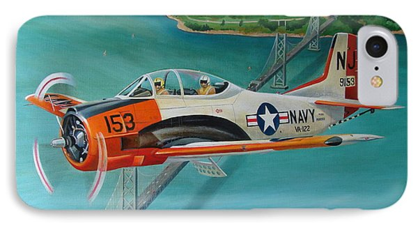 North American T-28 Trainer IPhone Case by Stuart Swartz