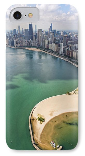 North Avenue Beach Chicago Aerial IPhone Case by Adam Romanowicz
