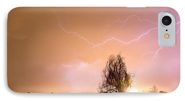 North Boulder County Colorado Lightning Strike Phone Case by James BO  Insogna