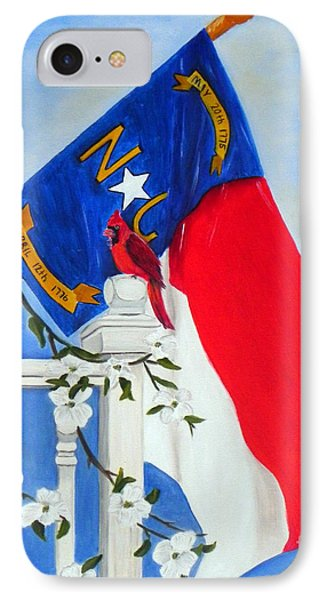 IPhone Case featuring the painting North Carolina - A State Of Art by Shelia Kempf